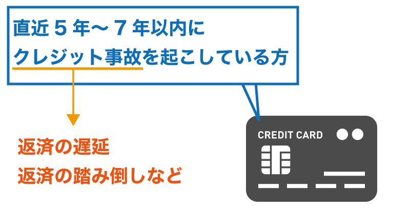 クレジット事故がある方は融資が厳しい