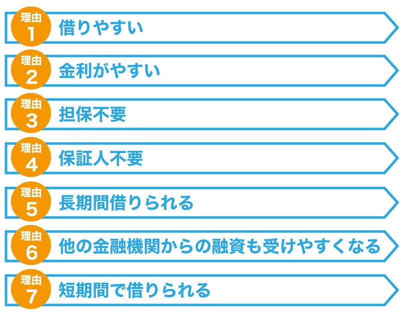 日本政策金融公庫からの借入がオススメな7つの理由
